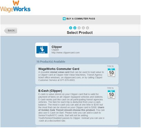 wage workds wageworks and clipper card tutorial wageworks