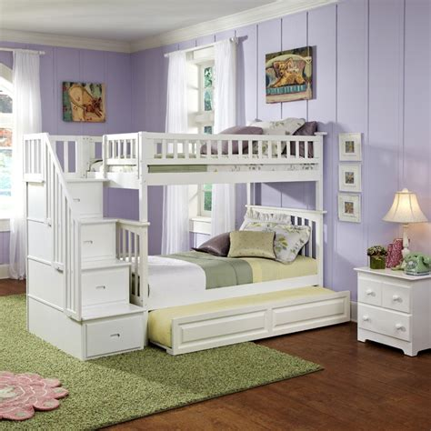 white bunk bed with stairs white classic arch slatted bunk bed with stairs