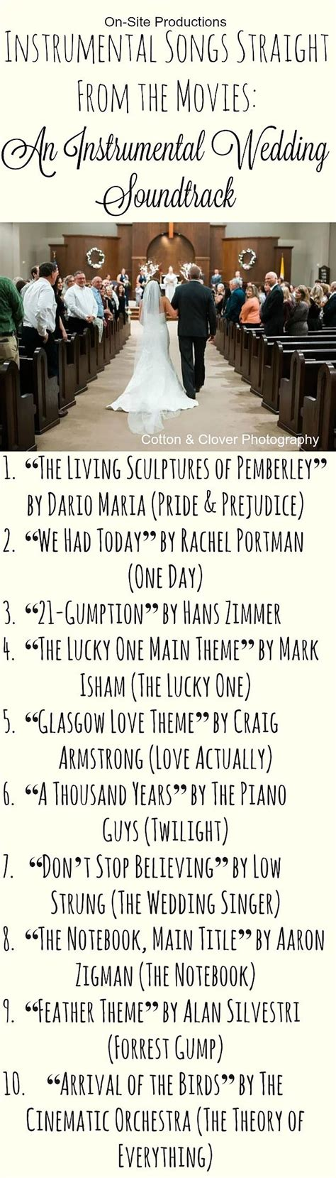 Wedding Song List Instrumental by 17 Best Ideas About Wedding Songs Ceremony On