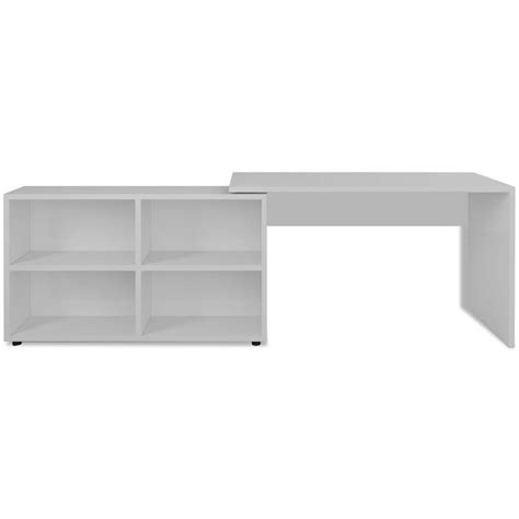 Vidaxl Corner Desk 4 Shelves White Vidaxl Co Uk White Corner Desk With Shelves