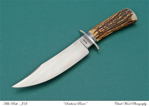 stag handle bowie knife custom bowie knives