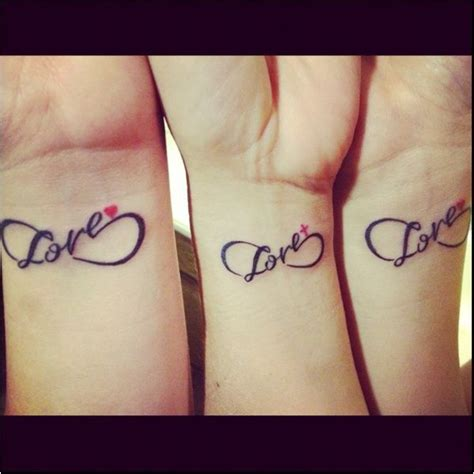 mother daughter infinity tattoos mom amp daughters love