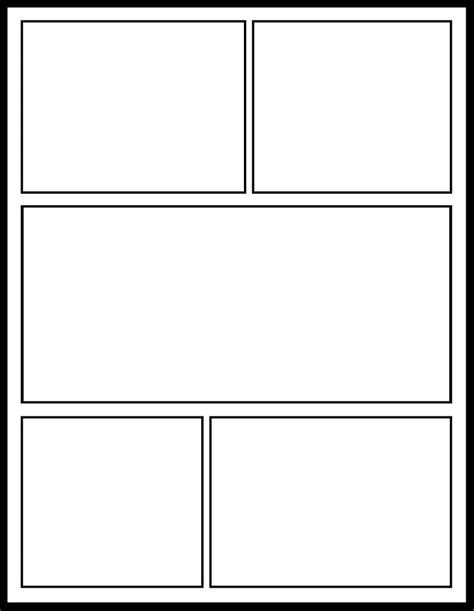 Printable Blank Comic Strip Template For Kids