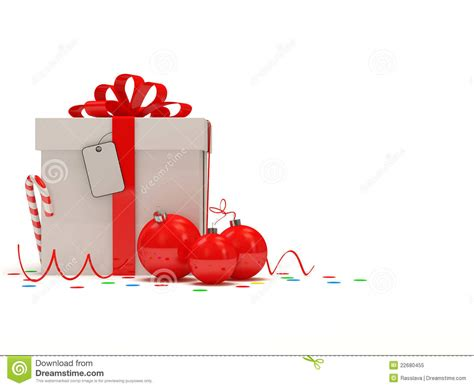christmas gift box on white background stock illustration