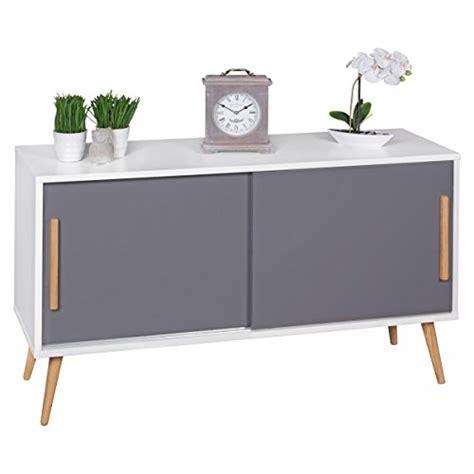 schreibtische skandinavisches design finebuy sideboard mit schiebet 252 ren skandinavisches design