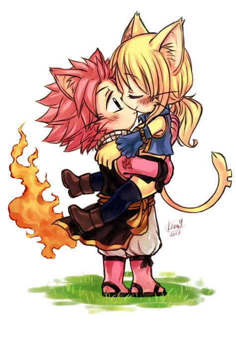 fairytale anime cats nalu busters cat by leons nalu