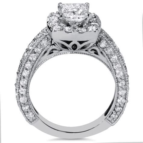 s 2 1 2ct princess cut vintage engagement