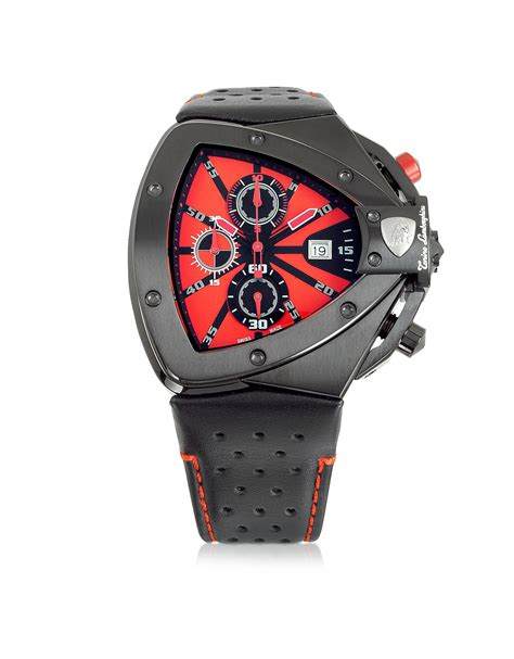 Lamborghini Watch by Tonino Lamborghini Black Stainless Steel Horizontal Spyder