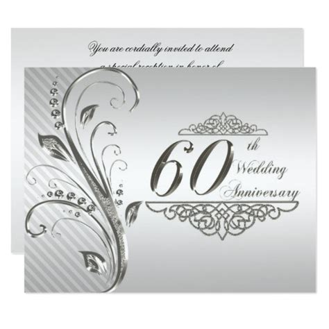 60th wedding anniversary invitation card zazzle au