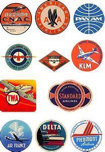 Koffer Aufkleber Reise by Vintage Stil Fluglinie Reise Koffer Gep 228 Ck Etiketten Set