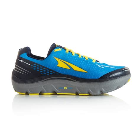 zero drop road running shoes the altra paradigm 2 0 in blue and yellow for at