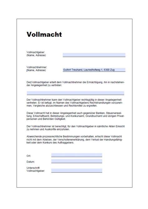Kfz Versicherung Ndern Vorlage by Vollmacht