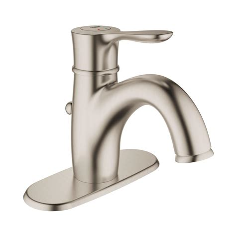 single hole two handle bathroom faucet grohe parkfield single hole single handle 1 2 gpm bathroom faucet with escutcheon in