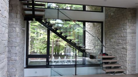 Window Treatments For Small Basement Windows - stair case contemporary staircase vancouver by gaulhofer windows
