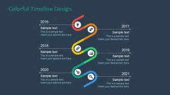 colorful timeline design for powerpoint slidemodel