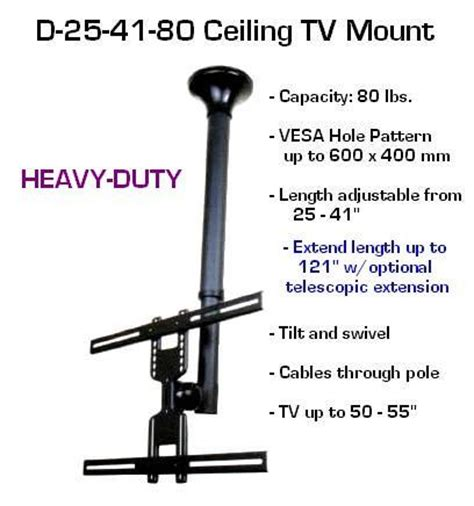 Telescopic Tv Bracket 1 3m Thick 400 X 400 Pitch For 26 55 Inch Tv wholesale lot of 4 d25 41 80 ceiling tv mount 26 quot to 60 quot tvs lengt oceanpointe