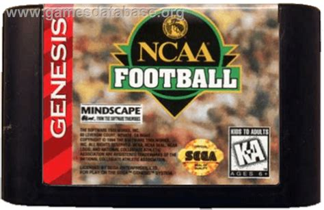 sega genesis football ncaa football sega genesis database