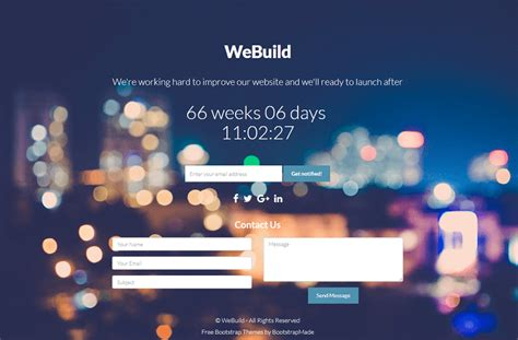 bootstrap themes free countdown 40 best free coming soon html templates under