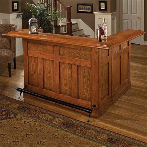 hillsdale classic large oak wrap around home bar 62576axoak