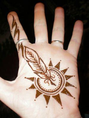 are henna tattoos safe henna feathered sun this was painted for a and safe