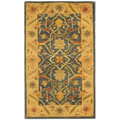 3 X 4 Area Rugs Safavieh Antiquity Blue 2 Ft 3 In X 4 Ft Area Rug At14e 24 The Home Depot