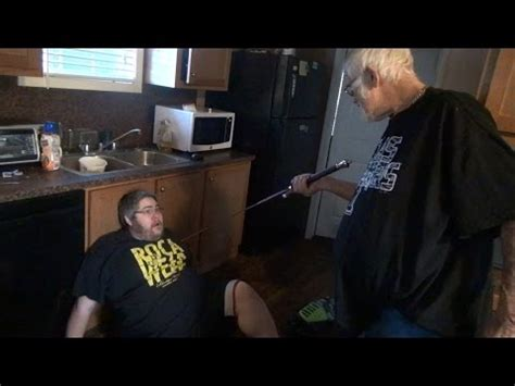 angry grandpa destroys bathroom bella has cancer doovi