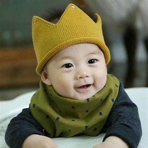 Handmade Childrens Hats - baby boy knit cap crown style infant baby hat