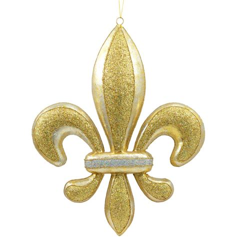 gold fleur de lis and black inscription on shoulder 16 quot gold banded fleur de lis decoration
