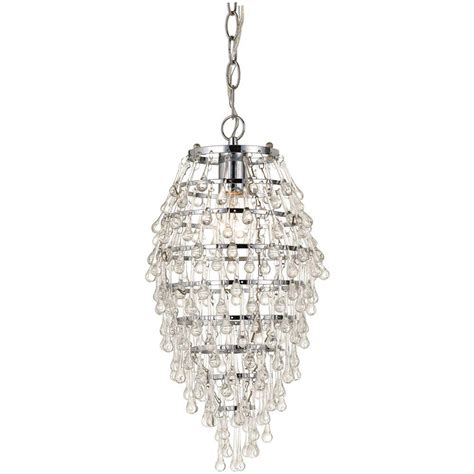 Small Glass Chandeliers Af Lighting Teardrop 1 Light Chrome Mini Chandelier With Clear Drop Glass Accents 8122