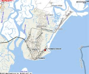 st simons island map st simons island downtown ga maps
