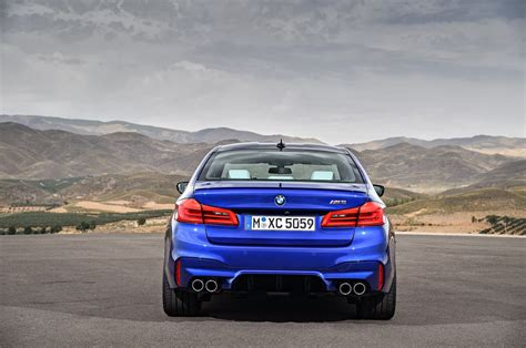 bmw m5 rear 2018 bmw m5 first look review motor trend