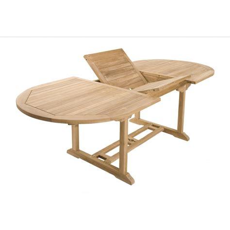 salon de jardin ovale salon de jardin teck table ovale 180 240cm 6 chaises summer pier import