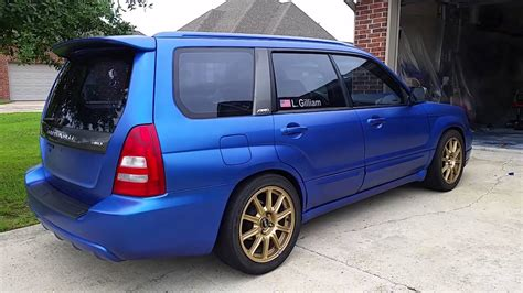 rally subaru forester rally blue plastidip 2004 forester xt
