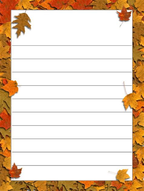 autumn writing paper autumn writing paper 28 images fall leaves lined
