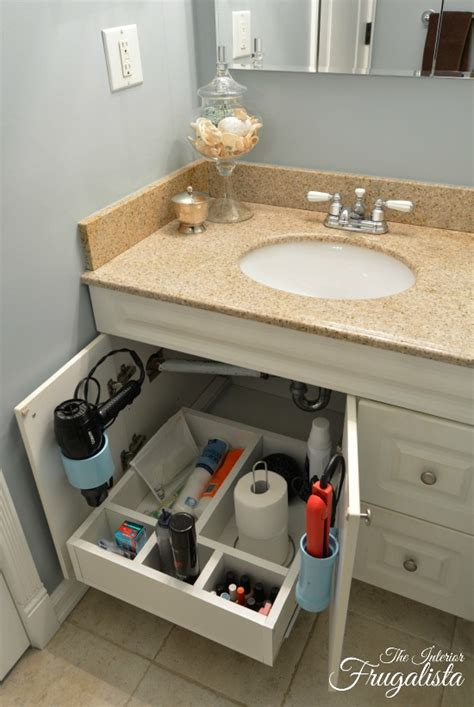 how to diy a bathroom vanity sliding shelf the interior