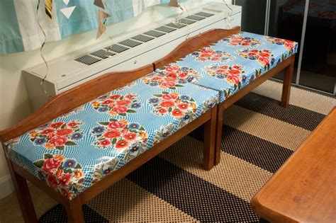 diy breakfast nook bench oilcloth covered breakfast nook benches diy one litte