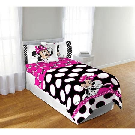 minnie mouse bed in a bag disney minnie mouse twin bedding