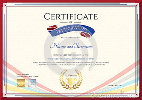colorful certificate template certificate template for achievement appreciation or