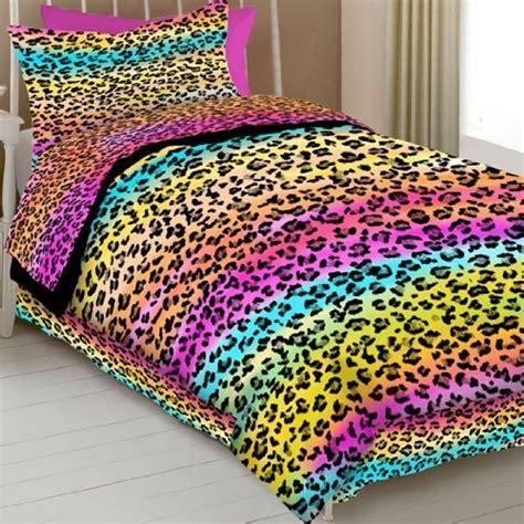rainbow leopard comforter rainbow cheetah bedding interior exterior ideas