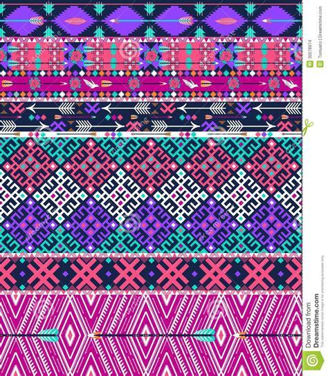 Kunst Mit Nägeln by Stammes Nahtloses Aztekisches Muster Mit V 246 Geln Und