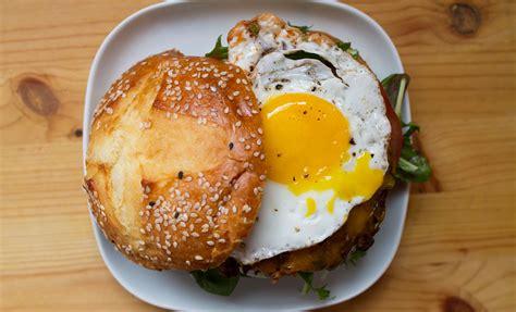 cheeseburger recipe black bean cheeseburger with fried egg recipes noshon it