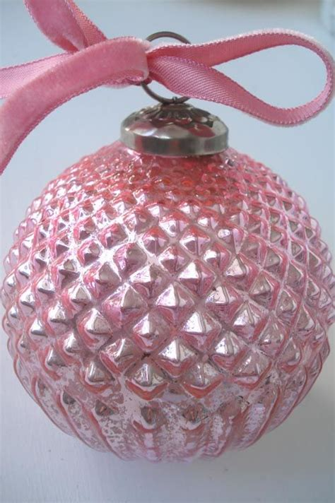 187 pink 171 mercury glass ornament la vie en rose pinterest