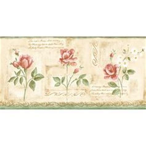 rose wallpaper border shabby chic cottage pinterest