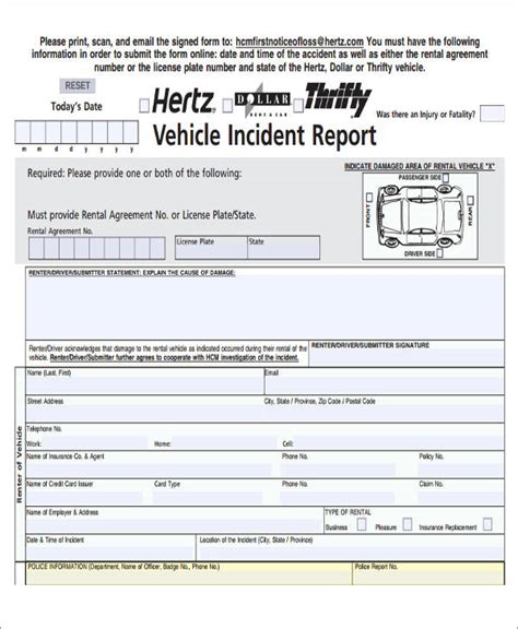 how to write a car report sle 47 incident report sles