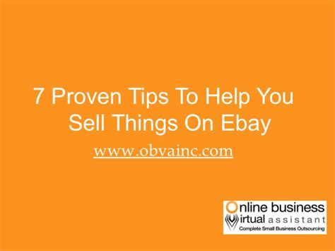 7 Tips On Selling Things 7 proven tips to help you sell things on ebay