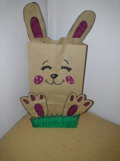 Paper Bag Bunny Craft - paper bag bunnies for easter arts crafts for
