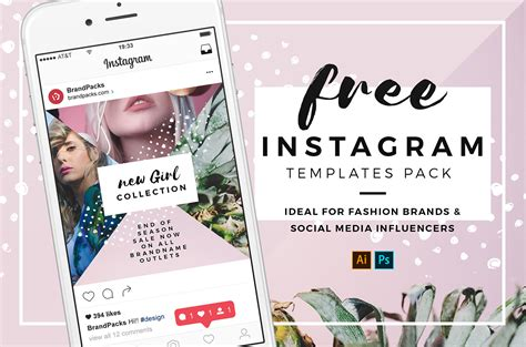 Free Instagram Templates In Psd Ai Vector Brandpacks Free Instagram Templates