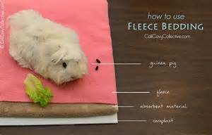 how to use fleece bedding in your guinea pig s cage