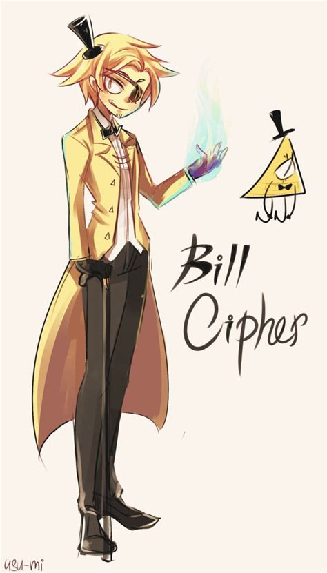 bill cipher anime gravity falls bill cipher by usu mi on deviantart