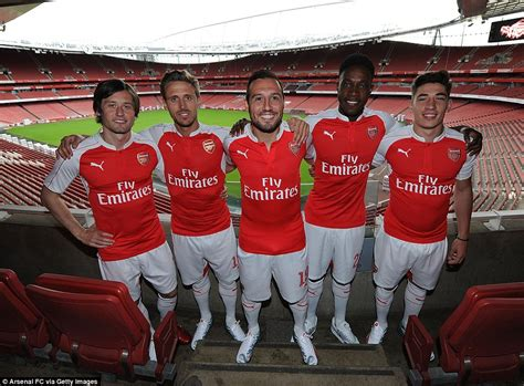 Arsenal Home Season arsenal launch new home kit for 2015 16 season at the